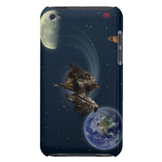 Bald Eagle Earth Moon Planets Fantasy  Design Barely There iPod Case
