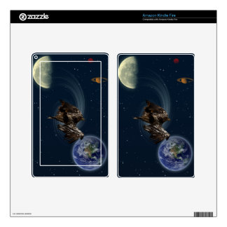 Bald Eagle Earth Planets Fantasy Device Skins Decals For Kindle Fire