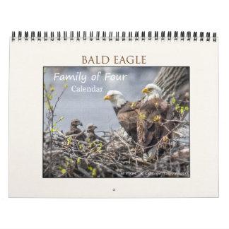 Bald Eagle Family of Four Calendar