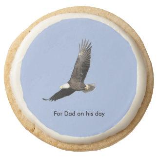 Bald Eagle Father's Day Round Premium Shortbread Cookie