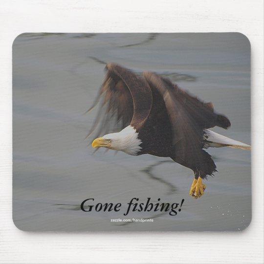 Bald Eagle Fishing Mousepad