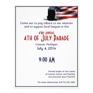 Bald Eagle Flies the Flag 4th of July Flyer