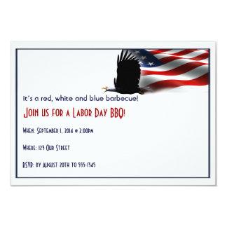 Bald Eagle Flies the Flag Labor Day Card