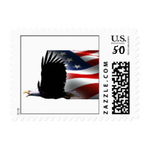 Bald Eagle Flies the Flag Memorial Day Postage