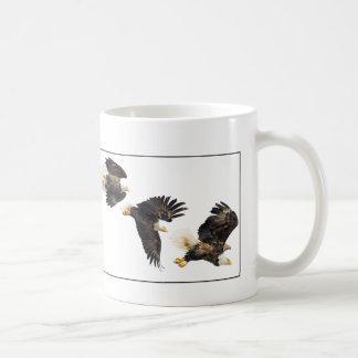 Bald Eagle Flight / Border Coffee Mug