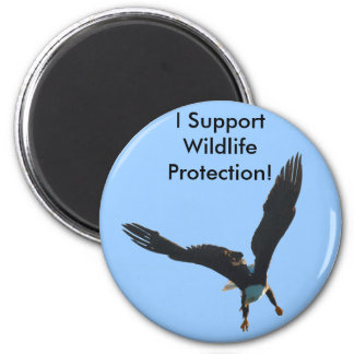 Bald Eagle Flight Collection 2 Inch Round Magnet