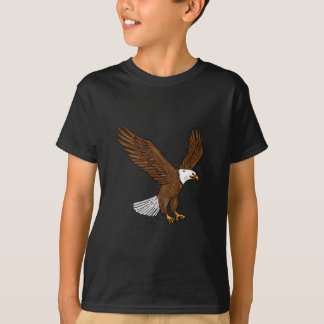 Bald Eagle Flying Drawing T-Shirt