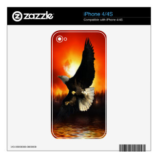 Bald Eagle & Forest Fire iPhone 4 Skin