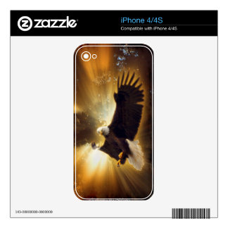 Bald Eagle & Forest Sunlight iPhone 4 Skin