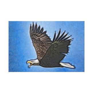 Bald Eagle Fractal Art Canvas