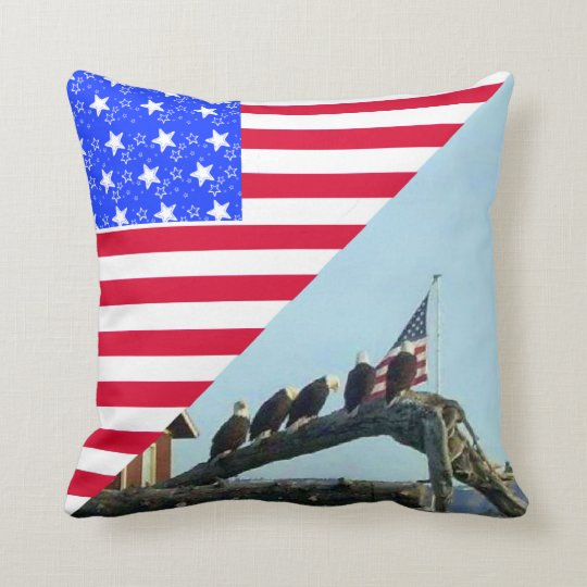 Bald Eagle Freedom Flag American MoJo Pillows