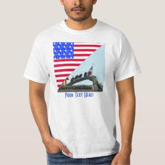 Bald Eagle Freedom Flag Design T-Shirt