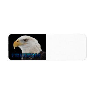 Bald Eagle - Freedom Custom Return Address Label