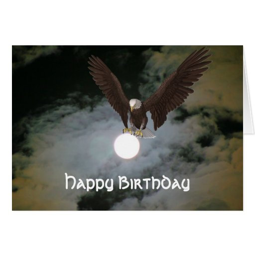 bald eagle full moon fantasy birthday card zazzle