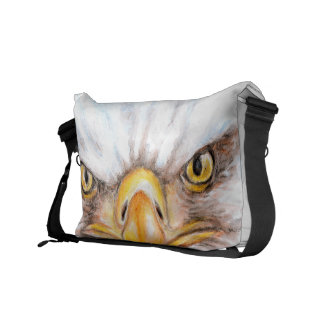 Bald Eagle Gaze Messenger Bag