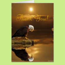 Bald Eagle Gratitude Wildlife Thank You Card