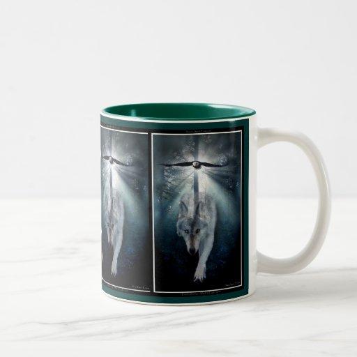 Wolf Coffee Maker Descaler : Bald Eagle & Grey Wolf Coffee Mug Zazzle