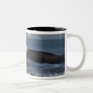 Bald Eagle, Haliaeetus leucocephalus, Homer, 3 Two-Tone Coffee Mug