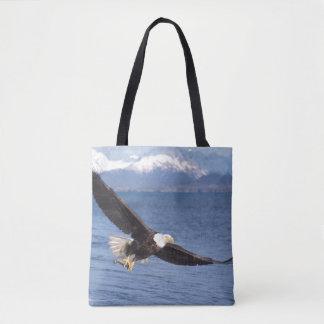 bald eagle, Haliaeetus leucocephalus, in flight 4 Tote Bag