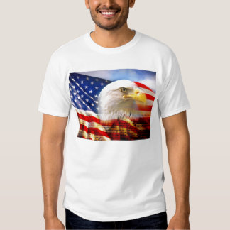 Bald_Eagle_Head_and_American_Flag Tee Shirt