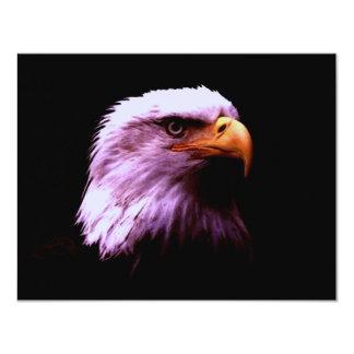 Bald Eagle Head 4.25x5.5 Paper Invitation Card