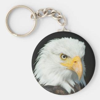 Bald Eagle head Keychain