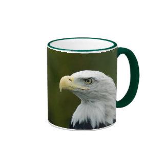 Bald Eagle head Ringer Ceramic Mug