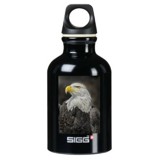 Bald Eagle Head Shot Water Bottle