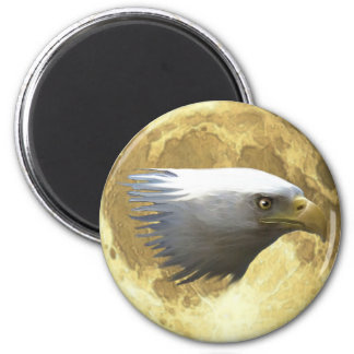BALD EAGLE HEAD with FULL MOON Wildlife Magnet