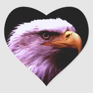 Bald Eagle Heart Sticker