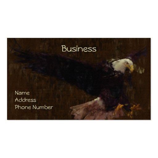 Bald Eagle Impressionist Painting Business Cards