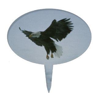 bald eagle in flight cake topper