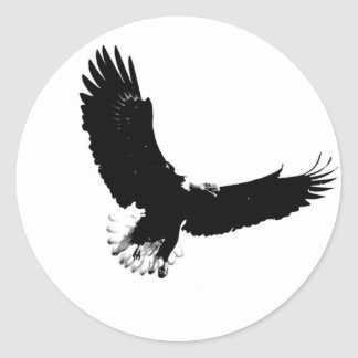 Bald Eagle in Flight Classic Round Sticker