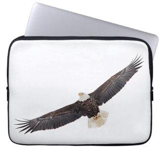 Bald Eagle in flight Computer Sleeve