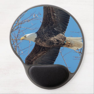 Bald Eagle in flight Gel Mouse Pad