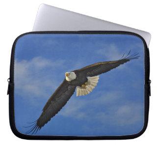 Bald Eagle in flight, Haliaetus leucocephalus, Laptop Sleeves