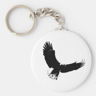 Bald Eagle in Flight Keychain