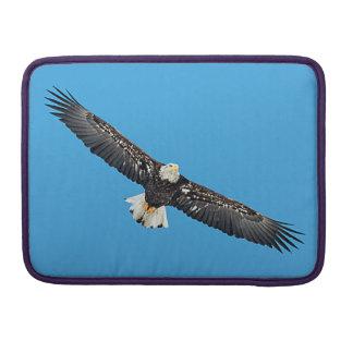 Bald Eagle in flight MacBook Pro Sleeve