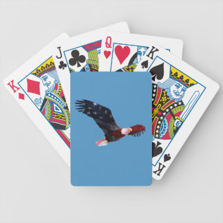 Bald Eagle in flight Patriotic Playing Cards