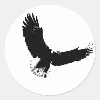 Bald Eagle in Flight Round Stickers