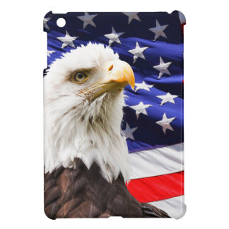 Bald Eagle in Front of American Flg Cover For The iPad Mini