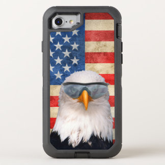 Bald Eagle in Sunglasses OtterBox Defender iPhone 7 Case