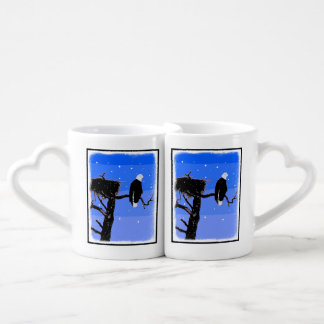 Bald Eagle in Winter Coffee Mug Set