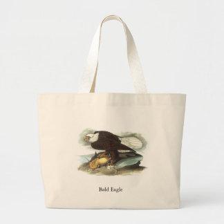 Bald Eagle, John Audubon Large Tote Bag