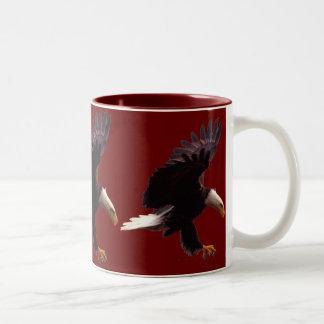 BALD EAGLE Landing Design Two-Tone Coffee Mug