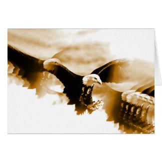 Bald Eagle Landing Greeting Card
