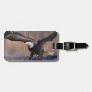 Bald Eagle landing Luggage Tag