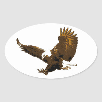 Bald Eagle Landing Oval Stickers