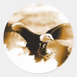 Bald Eagle Landing Stickers