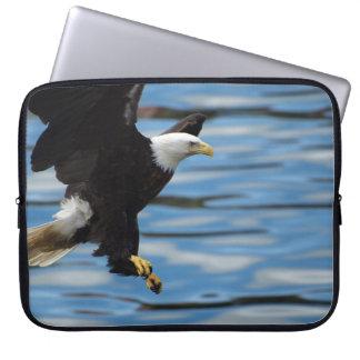 Bald Eagle Landing Wildlife Photography Computer Sleeve